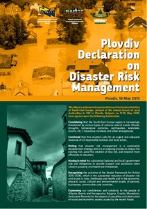 Plovdiv 2015 Declaration on Disaster Risk Management